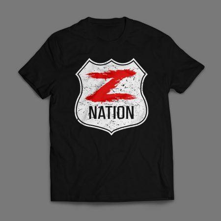 Camiseta Z Nation Masculina Preta