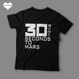 Camiseta 30 Seconds To Mars Feminina Preta