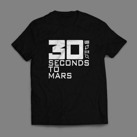 Camiseta 30 Seconds To Mars Masculina Preta