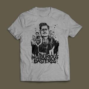Camiseta Bastardos Inglórios Masculina Cinza Mescla