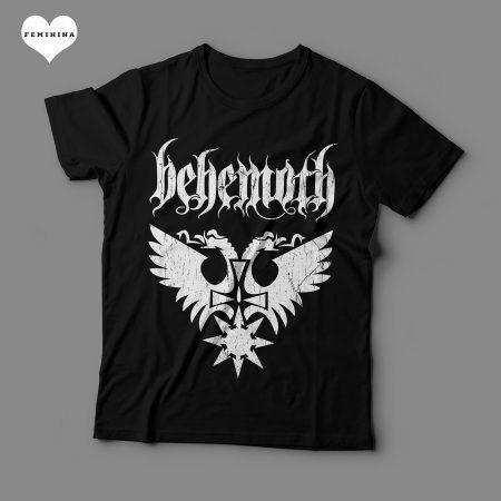 Camiseta Behemoth Feminina Preta