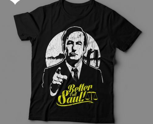 Camiseta Better Call Saul Feminina Preta