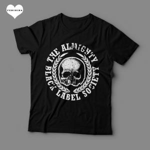 Camiseta Black Label Society Feminina Preta