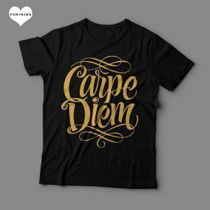 Camiseta Carpe Diem Feminina Preta