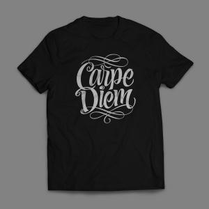 Camiseta Carpe Diem Masculina Preta