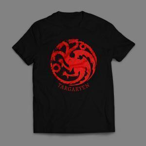 Camiseta Casa Targaryen Game Of Thrones Masculina Vermelha