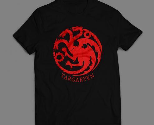 Camiseta Casa Targaryen Game Of Thrones Masculina Vermelha