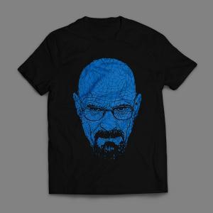 Camiseta Heisenberg Breaking Bad Walter White Masculina Preta