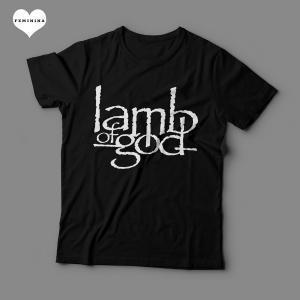 Camiseta Lamb Of God Feminina Preta