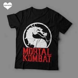 Camiseta Mortal Kombat Feminina Preta