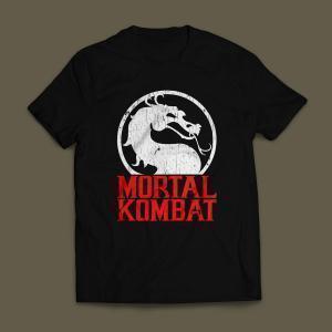 Camiseta Mortal Kombat Masculina Preta