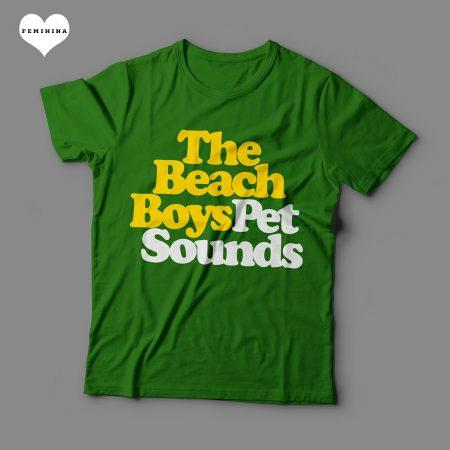 Camiseta The Beach Boys Pet Sounds Feminina Verde
