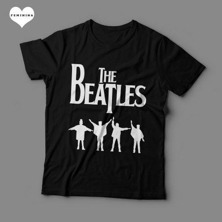 Camiseta The Beatles Feminina Preta