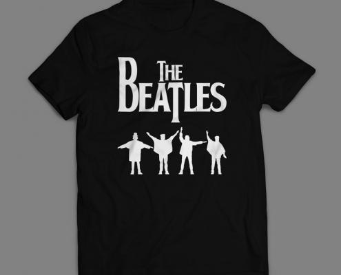 Camiseta The Beatles Masculina Preta