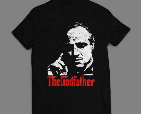 Camiseta O Poderoso Chefão Masculina Preta