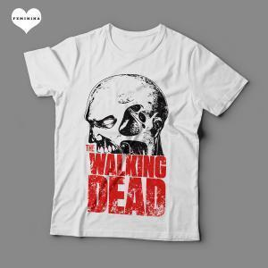 Camiseta The Walking Dead Feminina Branca