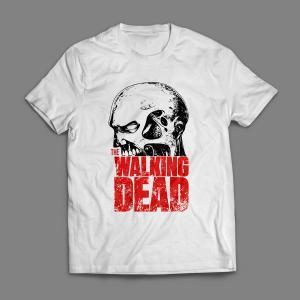 Camiseta The Walking Dead Masculina Branca
