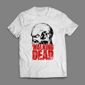 Camiseta The Walking Dead Masculina Branca
