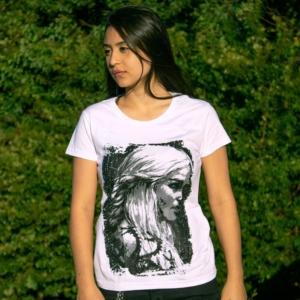 Camiseta Daenerys Targaryen Game Of Thrones Feminina Capa