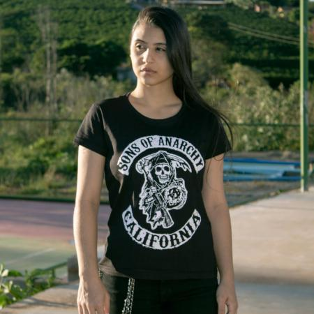 Camiseta Sons Of Anarchy California - Feminina Capa