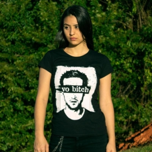 Camiseta Jesse Pinkman Yo Bitch Breaking Bad Feminina Capa