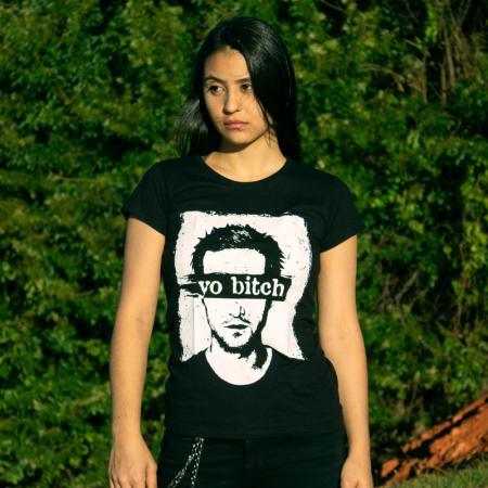Camiseta Jesse Pinkman Yo Bitch Breaking Bad Feminina Capa