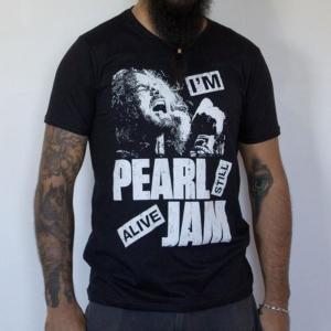 Camiseta Pearl Jam Masculina Preta