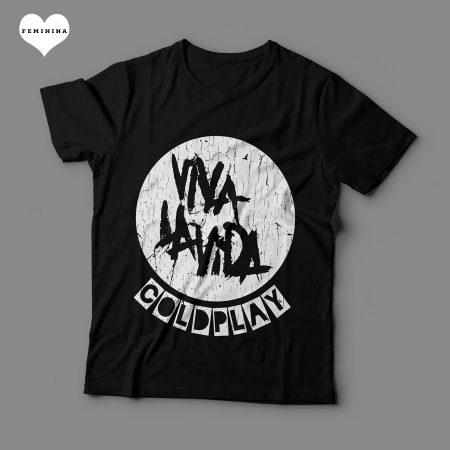 Camiseta Coldplay Viva La Vida Feminina Preta