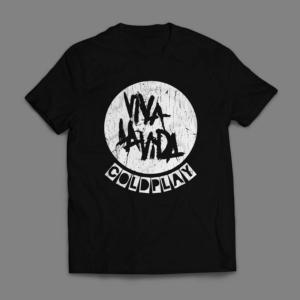 Camiseta Coldplay Viva La Vida Masculina Preta