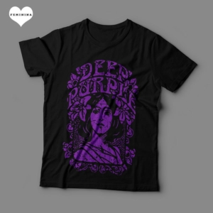 Camiseta Deep Purple Feminina Preta