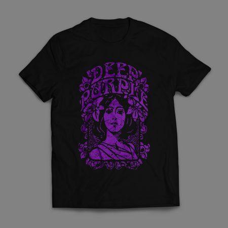 Camiseta Deep Purple Masculina Preta