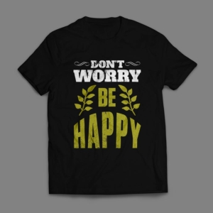 Camiseta Don't Worry Be Happy Masculina Preta