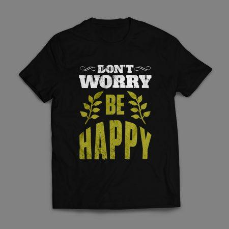 Camiseta Don't Worry Be Happy Masculina Preta