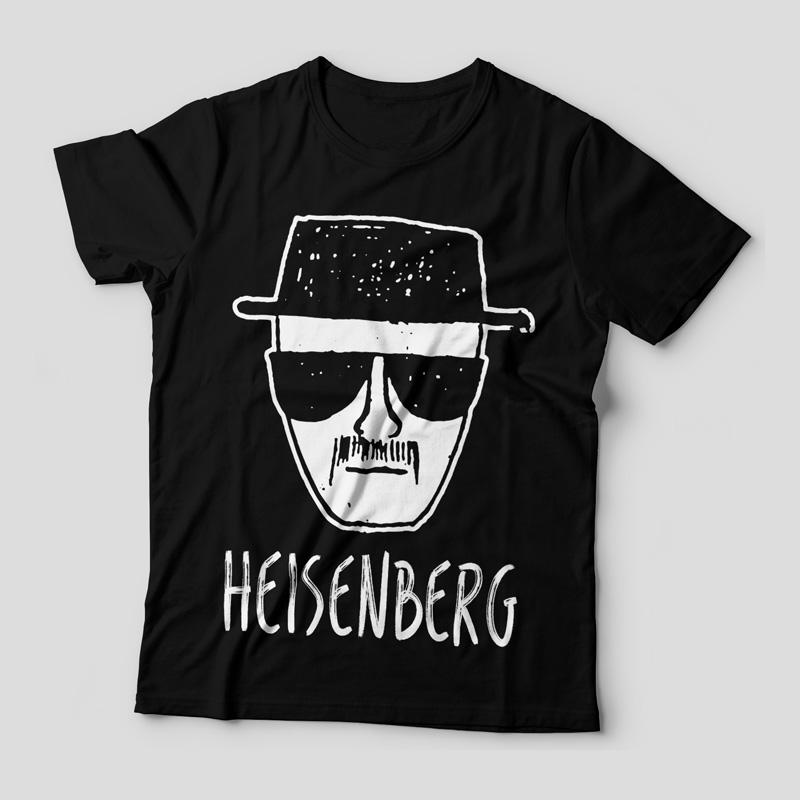 Camiseta Heisenberg Desenho Feminina Preta