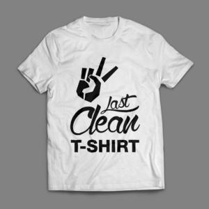 Camiseta Last Clean T-shirt Masculina Branca