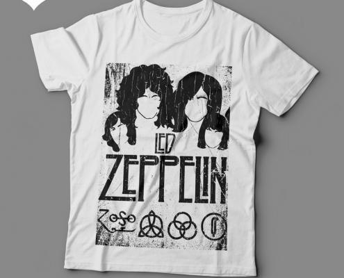 Camiseta Led Zeppelin Feminina Branca