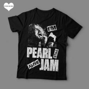 Camiseta Pearl Jam Feminina Preta