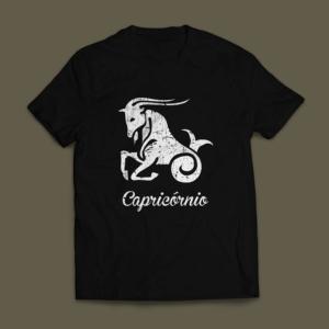 Camiseta Signo Capricórnio Masculina Preta