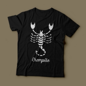 Camiseta Signo Escorpião Feminina Preta