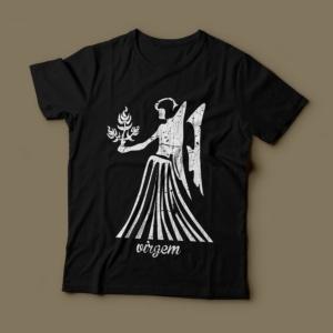 Camiseta Signo Virgem Feminina Preta