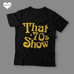 Camiseta That 70s Show Feminina Preta