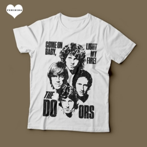 Camiseta The Doors Light My Fire Feminina Branca
