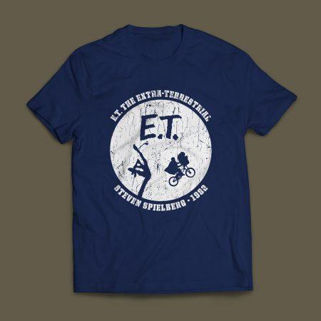 Camiseta ET O Extraterrestre Steven Spielberg 1982 Masculina Azul Marinho
