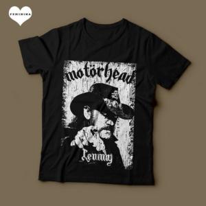 Camiseta Motorhead Lemmy Kilmister Feminina Preta