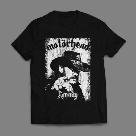 Camiseta Motorhead Lemmy Kilmister Masculina Preta