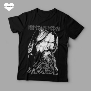 Camiseta Amon Amarth Feminina Preta Capa