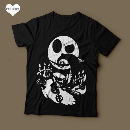 Camiseta O Estranho Mundo de Jack Feminina Preta Capa