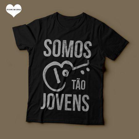 Camiseta Somos tão Jovens Legião Urbana Feminina Preta