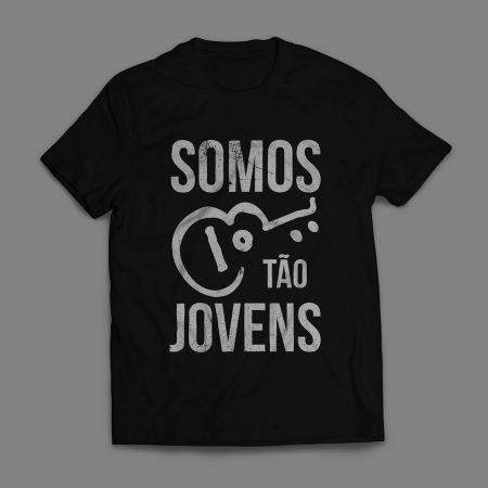 Camiseta Somos tão Jovens Legião Urbana Masculina Preta