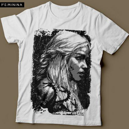 Camiseta Daenerys Targaryen Game Of Thrones Feminina Branca